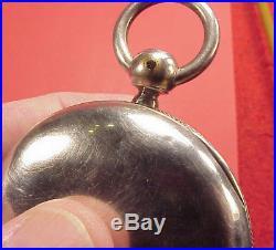 RARE Original 1857 STEMWIND COIN SILVER KEYWIND CASE 18 SIZE EMPTY POCKET WATCH