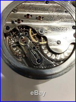 REDUCED! 1885 E. Howard Vll N Size Pocket Watch in Stunning Case/Train on Back