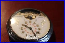 REDUCED, HEBDOMAS C. 1910, 7 J, SWISS 8-DAY, Pocket Watch Open Face Hunting Case