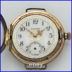 REPAIR 1901 Waltham Seaside Conversion Watch 0s 7j Multicolor 14k GF Case