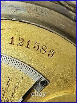 ROCKFORD MODEL 2 JEWELER CASE 18s POCKET WATCH 11JEWEL SIDEWINDER TRANSITIONAL
