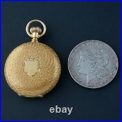 Rare 1883 Waltham Mod 1873 Heavy Solid 18K Gold 8 Size Hunter Case Pocket Watch