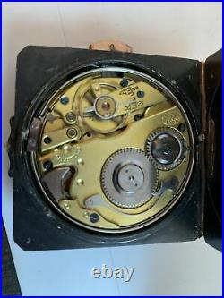 Rare 19c Square Aesthetic Gun Metal Blue Steel Case Quarter Repeat Pocket Watch