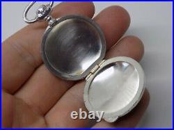 Rare Antique 800 Silver Locket/fob/case. Unusual Pocket Watch Design