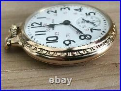 Rare Hamilton 992B Railway Special 24 Hr. Dial, BOC Case Pocket Watch C1943