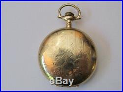 Rare J. P. Stevens Atlanta 18 Size Hunter Case Pocket Watch Aurora Made Movement