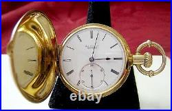 Rare Jules Jurgensen Copenhagen 18k Gold Pocket Watch 12535 Full Hunter Case
