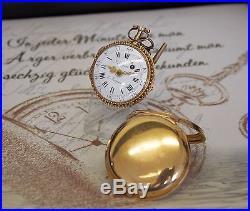 Rare Larpent & Jürgensen Spindel Taschenuhr 18K Gold pair case pocket watch