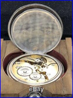 Rare Niello WW2 German. 800 Silver Pocket Watch In Case