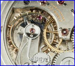 Rare Omega Chronometer Grade Very Best Pocket watch Steel case, Art Deco 1925