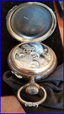 Rare Triple Calendar Lever Set Moon Phase Pocket watch OF, Ornate Case, Ca. 1905