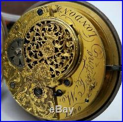 Rare Vintage Verge Fusee Tooting Ottoman (Prior) Triple Case Pocket Watch