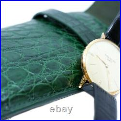 Real Crocodile Handmade Green Travel Pouch Case For Rolex and Breitling Watches