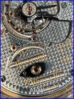 Rockford 18 size, 900 model open face pocket watch, nice box hinge case