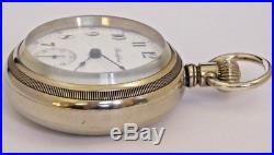 Rockford Nice 935 18s 17j Pocket Watch, RAILROAD LOCOMOTIVE CASE, Running Fine