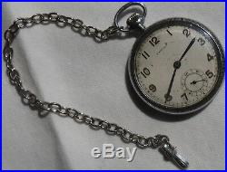 Rolex Marconi Pocket Watch Open Face Snowite Case 41,5 mm. In diameter