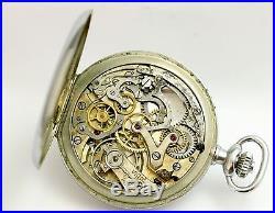 Rolex Vintage 1920-30s Chronographe Pocket Watch For Restoration Snowite Case
