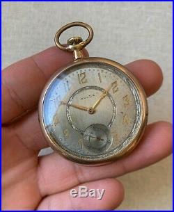 Rolex pocket watch vintage gold filled case 1920's