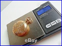 SOLID 14k Gold Antique 1896 Waltham 7 Jewel 0 Size Hunter's Case Pocket Watch