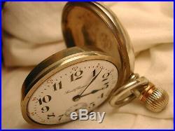 SOUTH BEND POCKET WATCH OPEN FACE 18s SWING CASE 15-J / 332 MVT LEVER SET RUNS
