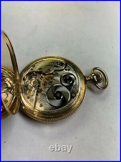 STUNNING HAMILTON UNION SPECIAL gold filled 16S HUNTER CASE pocket watch