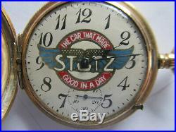 STUTZ AUTO DIAL HAMPDEN 16S RAILROAD GRADE POCKET WATCH N. A. W. Co 20 YR GOLD CASE