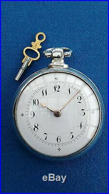 SUPERB RARE PAIR CASED VERGE FUSEE POCKET WATCH Birmingham 1826 SERVICED