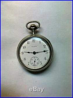 SUPER DUPER CLEAN large 18 size ELGIN SALESMAN'S DISPLAY CASE pocket watch