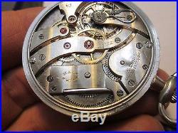SWISS MENS DRESS HAAS NEVEAUX MOVEMENT PLATINUM CASE RUNNING Pocket Watch