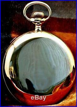 Scarce 14k Solid Gold Illinois Grade 410 Hunter-Cased Pocket Watch