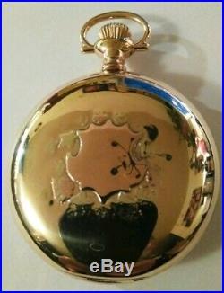Scarce (1892) Rockford 18 size 11 jewels 14K Multi-color gold filled hunter case
