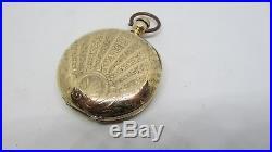 Scarce Early Elgin Frances Rubie 10s KW Key Wind Pocket Watch Boss GF Case
