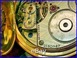 Scarce Waltham 14K 16S 21J Model 72 American Watch Co Grade Hunter Case