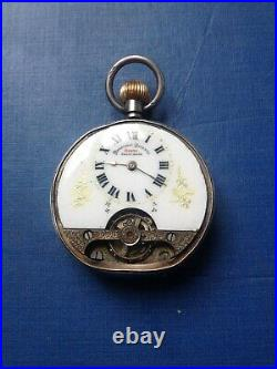 Silver Cased Hebdomas 8 Day Pocket Watch for Spares