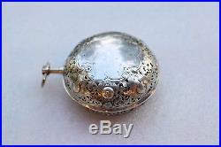 Silver Pair Case Verge Fusee Alarm Pocket Watch by Simon Mair of Neuburg c. 1705