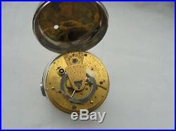 Silver pair case fusee detent chronometer parkinson and frodsham date 1818