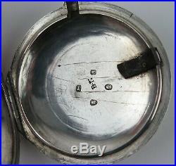 Silver pair cased Verge pocket watch J. Freeman. Case BN London 1796