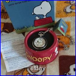 Snoopy Pocket Watch FOSSIL Limited Peanuts SNOOPY Woodstock Item With Case Rare