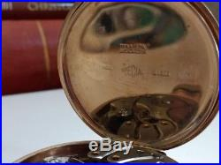 Solid 9ct Gold Presentation Pocket Watch & Outer Case