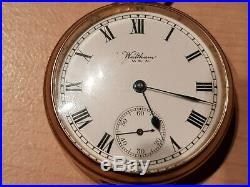 Solid 9ct Gold Waltham Pocket Watch with Dennison Case and Antique Box