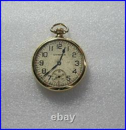 South Bend Studebaker 21 j Railroad Watch 8 pos. Gold Filled Case 16 size 1928
