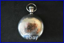 Sterling Silver & Gold Cased Illinois Stewart Special 18s 17j Adjusted