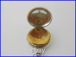 Sterling Silver Hunter Case Pocket Watch Chronometre Tavannes Watch & Co