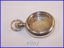 Stunning Antique Waltham AWCO Coin Silver 18s Swing Out Pocket Watch Case