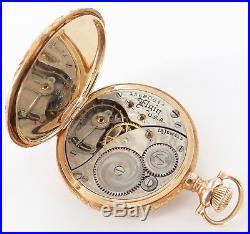 Stunning Case! 1911 Elgin 14k Gold 0s 15j Ladies Pocket Watch, Needs Service