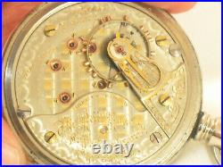 Stunning Two Tone Bunn Private Label Display Case Illinois Antique Pocket Watch