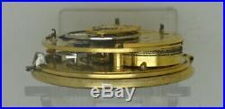 Superb 1818 silver fusee rack-lever pair-case pocket watch in V. G. Ticking order
