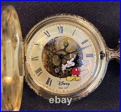 Sutton Disney Time Works Mickey Mouse Pocket Watch In Original Case