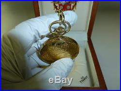 b959162a6 Swiss Mathey Tissot Mechanical Wind Up Pocket Watch With Original Wooden  Case
