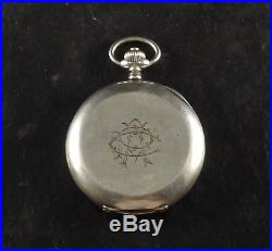 Ulysse Nardin Carved Scene Horse Antique Silver 0900 Hunter Case Pocket Watch